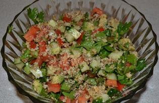 Салат с авокадо (пошаговый фото рецепт)