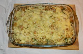 Макаронная запеканка с брокколи (пошаговый фото рецепт)