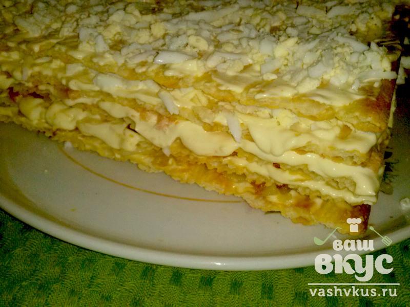 закуска из коржей наполеон рецепт с фото