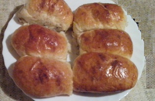 Пирожки с маком и изюмом (пошаговый фото рецепт)