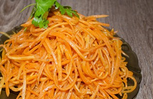 Морковь по корейски с кориандром (пошаговый фото рецепт)