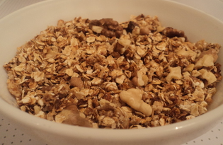 Овсяные хрустяшки с орешками (пошаговый фото рецепт)