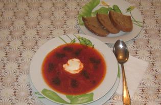 Вегетарианский борщ (пошаговый фото рецепт)