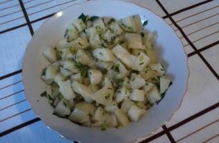 """Салат картофельный """"Два секрета"""" (пошаговый фото рецепт)"""