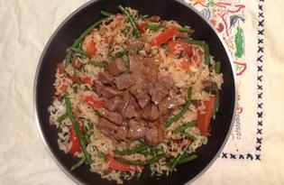 Телятина с рисом и овощами (рецепт с пошаговыми фото)