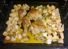 Запеченные куриные окорочка с овощами (рецепт с пошаговыми фото)