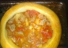Тыква с мясом, овощами, черносливом и кускусом (рецепт с пошаговым фото)