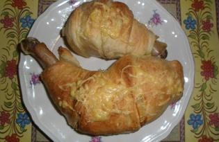 Фаршированные куриные ножки в тесте (пошаговый фото рецепт)