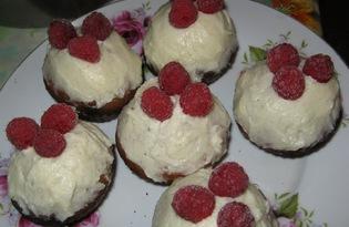 Кексы-капкейки с ванильно-сливочным кремом (пошаговый фото рецепт)