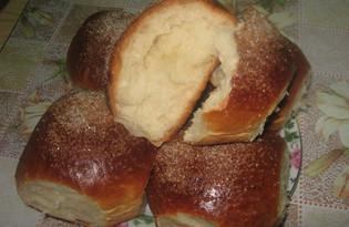 Сдобные булочки с сахаром (рецепт с пошаговыми фото)