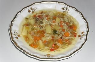 Легкий овощной суп (пошаговый фото рецепт)
