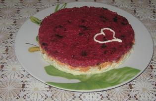 Салат остро-сладкий со свеклой (пошаговый фото рецепт)