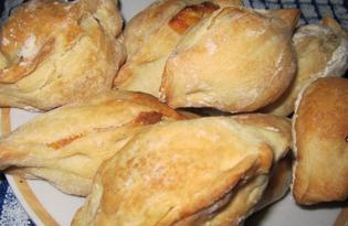 Пирожки с сыром и яйцом (пошаговый фото рецепт)