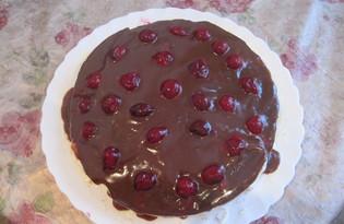 Шоколадный торт с вишней (пошаговый фото рецепт)