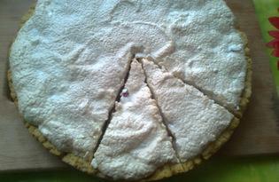 Песочный пирог с красной смородиной и бизе (рецепт с пошаговыми фото)