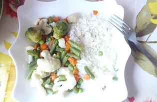 Весенняя смесь с рисом в мультиварке (пошаговый фото рецепт)