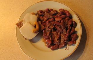 Тушенная говядина с фасолью (пошаговый фото рецепт)