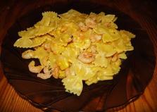 Фарфалле с креветками в сливках (рецепт с пошаговыми фото)