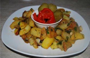 Картошка по-сельски в мультиварке (рецепт с пошаговыми фото)