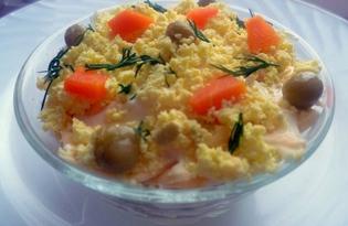 Слоеный салат с тунцом (рецепт с пошаговыми фото)