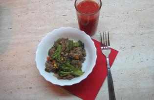 Овощи, обжаренные с фаршем (рецепт с пошаговыми фото)