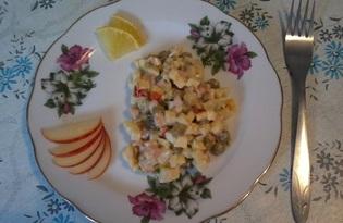 """Салат """"Оливье"""" с яблоком (пошаговый фото рецепт)"""