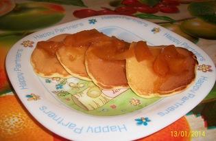 Мини-панкейки с кусочками яблок (рецепт с пошаговыми фото)