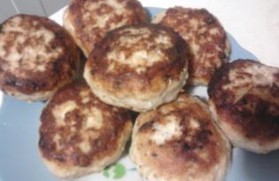 Курино-горчичные котлетки (пошаговый фото рецепт)