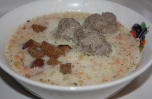 Сырный суп-пюре с фрикадельками (пошаговый фото рецепт)