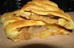 Яблочный штрудель простейший (пошаговый фото рецепт)