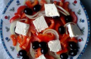 Греческий салат (пошаговый фото рецепт)