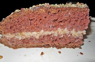 """Торт к празднику """"Для влюбленных"""" (пошаговый фото рецепт)"""