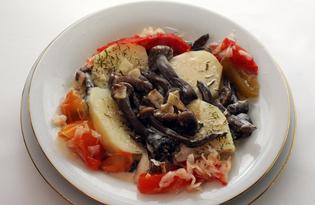 Жульен-подливка с картофелем (пошаговый фото рецепт)