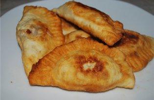 Жаренные вареники с печеночным фаршем (пошаговый фото рецепт)