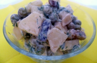Салат «По-быстрому» с сухариками (пошаговый фото рецепт)