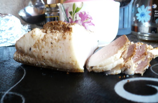 Вареное сало (пошаговый фото рецепт)