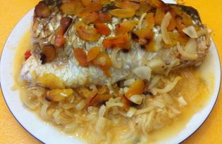 Пеленгас, запеченный с курагой (пошаговый фото рецепт)