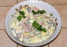 Салат из морепродуктов «На скорую руку» (пошаговый фото рецепт)