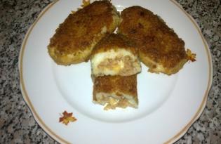 Котлеты с начинкой из фарша и сыра (пошаговый фото рецепт)