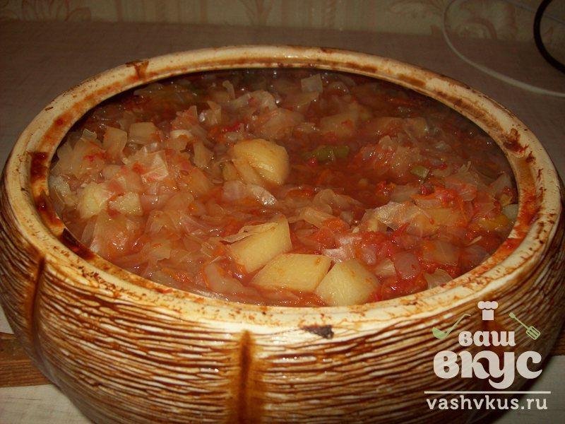 Капуста тушеная в духовке пошаговый рецепт