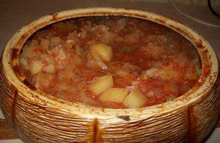 Капуста тушеная в духовке (пошаговый фото рецепт)