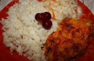 Филе индейки под морковным одеялом (пошаговый фото рецепт)