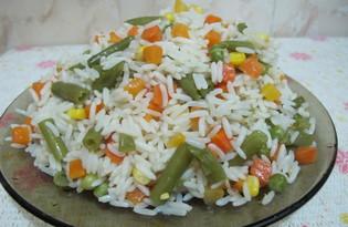 Рис басмати с овощной замороженной смесью в мультиварке Shivaki SMC-8351(пошаговый фото рецепт)