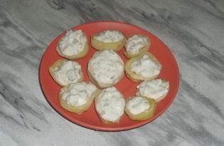 Картошка с чесночным соусом в микроволновке (пошаговый фото рецепт)
