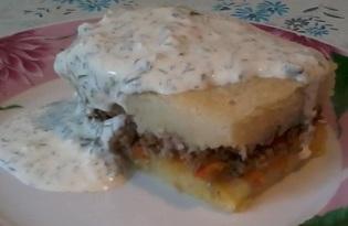 Картофельная запеканка с мясом (рецепт с пошаговыми фото)