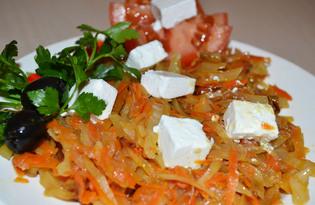 Жареная капуста (пошаговый фото рецепт)