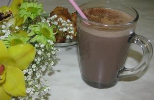 Шоколадно - банановый коктейль (пошаговый фото рецепт)