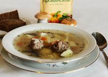Суп с фрикадельками и грибами (пошаговый фото рецепт)