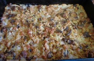 Грибной пирог (рецепт с пошаговыми фото)