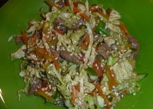 Салат из пекинской капусты с говядиной (пошаговый фото рецепт)